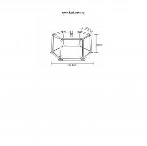 Tarc pentru Bebe Hexagonal cu 50 de bile - Tarc Bebe cu Bile Si Cos de baschet2