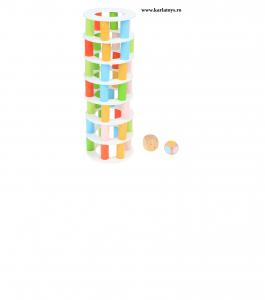 Joc din lemn Stivuire Turnul colorat Pisa Tower [3]