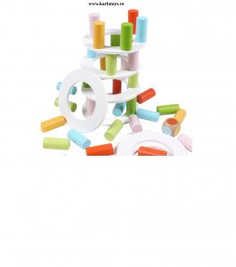 Joc din lemn Stivuire Turnul colorat Pisa Tower [5]