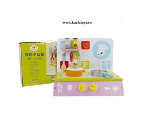 Bucatarie de lemn copii  Green Kitchen set0