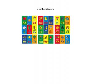 Carte din lemn Alfabet si imagini magnetice2