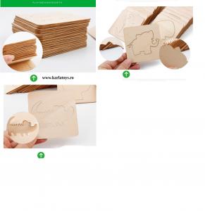 Trusa desen cu Sabloane din lemn si accesorii pentru copii12