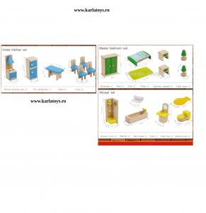 Set Mobilier pentru papusi din lemn2