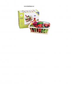 Cosulet din lemn  cu fructe de feliat 16 piese1