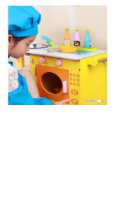 Bucatarie din Lemn Girafa cu accesorii pentru copii4