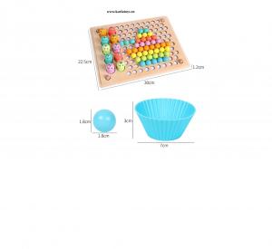 Joc Montessori din Lemn Sortator Culori  si Joc de Pescuit Copii7