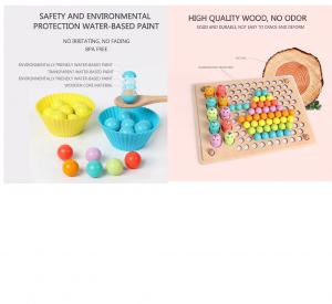 Joc Montessori din Lemn Sortator Culori  si Joc de Pescuit Copii3