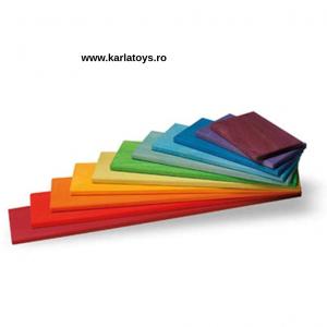 Montessori Rainbow Blocks - Placute Curcubeu 11 piese0
