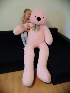 Ursulet din plus cu funda Gigant 185 cm0