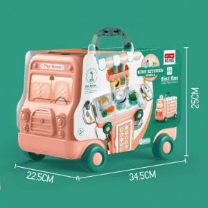 Set Bucatarie Mobila copii 2 in 1 - Autobuzul Transformabil 2 in 1 Chef8