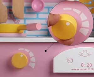 Bucatarie din Lemn pentru copii Roz - Bucatarie de jucarie din Lemn Japanese3