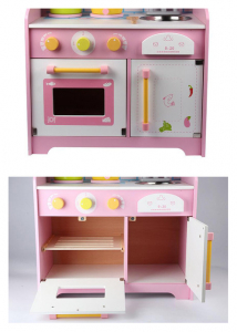 Bucatarie din Lemn pentru copii Roz - Bucatarie de jucarie din Lemn Japanese6