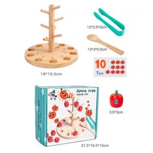Joc educativ montessori din lemn Pomul cu Mere [2]