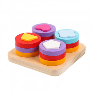 Joc lemn montessori sortator forme geometrice 4 coloane1