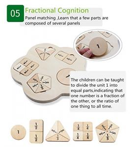 Joc lemn stivuire forme geometirce fracti si intreg 5 coloane  Geometric Stacker Chunky Board7