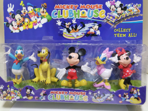 Set 5 figurine personaje Club House Mickey Mouse0