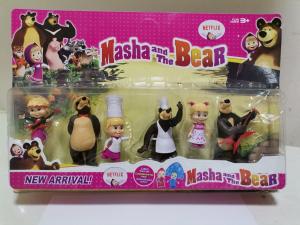 Set 6 figurine tip Masha si Ursul0