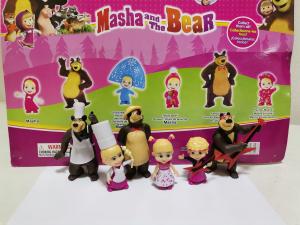 Set 6 figurine tip Masha si Ursul1