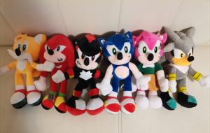 Set 6 buc Jucarii de plus Super Sonic - Set Plusuri Sonic Hedgehog1