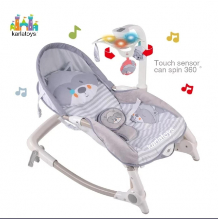 Scaun Balansoar Bebe cu Vibratii Carusel muzical si Lumini [0]