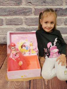 Papusa Muzicala rotativa in cutie cadou Little Princess0