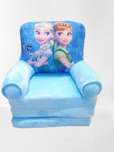 Fotoliu din plus extensibil Frozen  mare 115 cm Ana si Elsa [1]