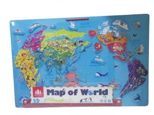 Harta lumii de perete magnetica cu 2 fete0
