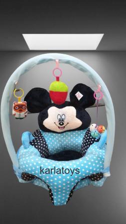 Fotoliu Bebelusi cu arcada cu jucari Minnie Mickey Mouse cu buline [0]