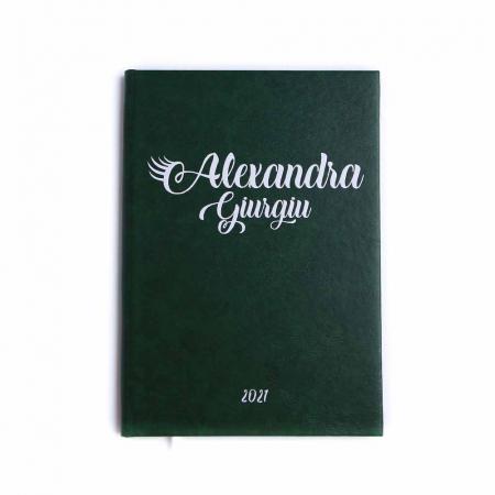 AGENDA A4 FOREST GREEN NEDATATA CU LINII3