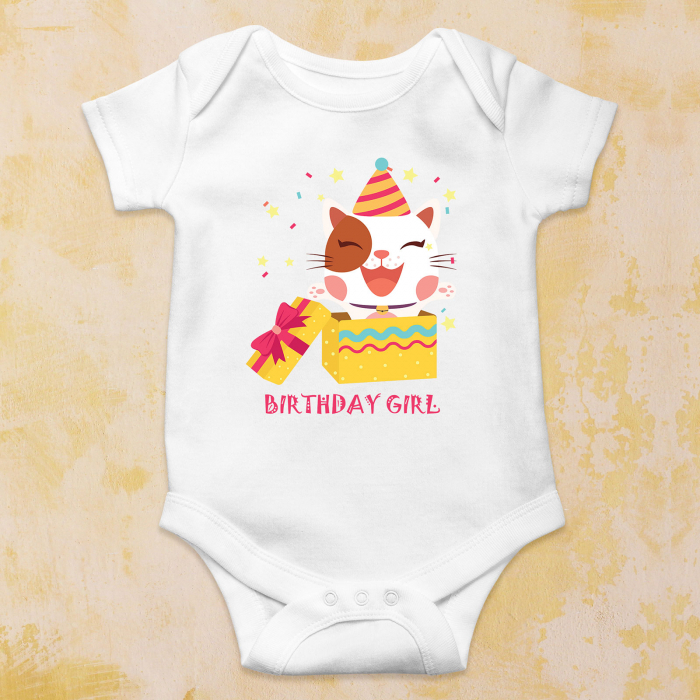 "Body | Tricou copii - ""Birthday girl"" 1"
