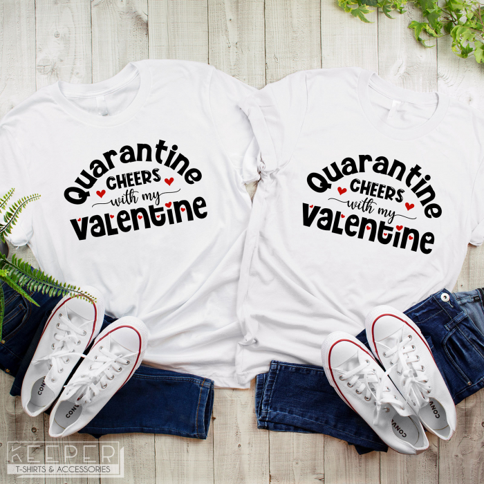 "Set tricouri cuplu - ""Quarantine cheers"" [0]"