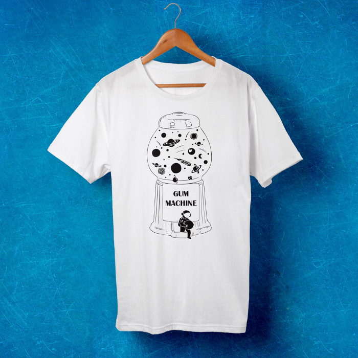 Tricou barbati - Astronaut and the gum machine 1