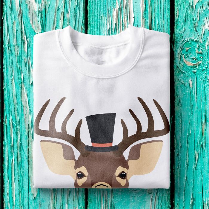 Tricou barbati - Hipster deer 1