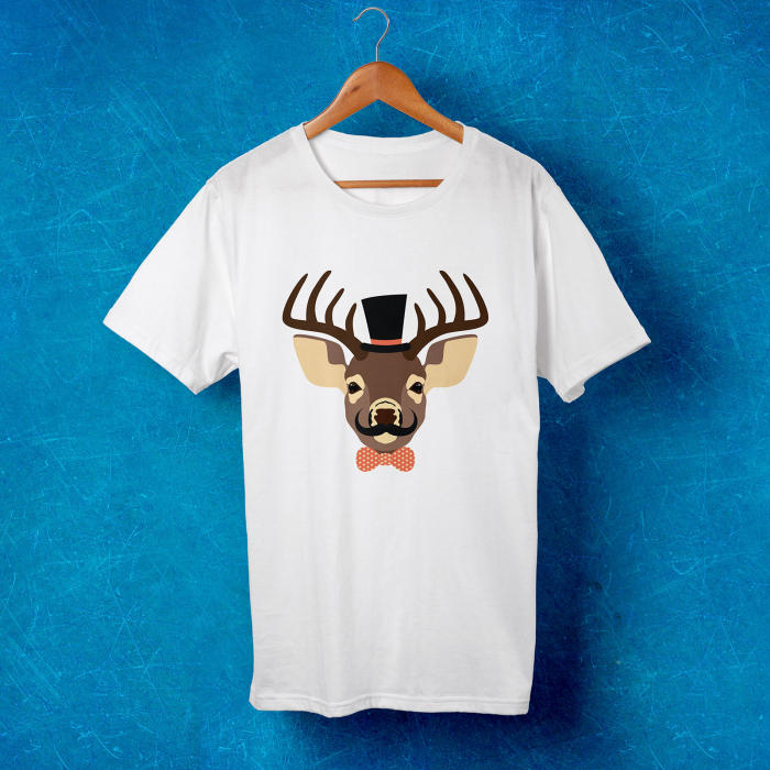 Tricou barbati - Hipster deer 0