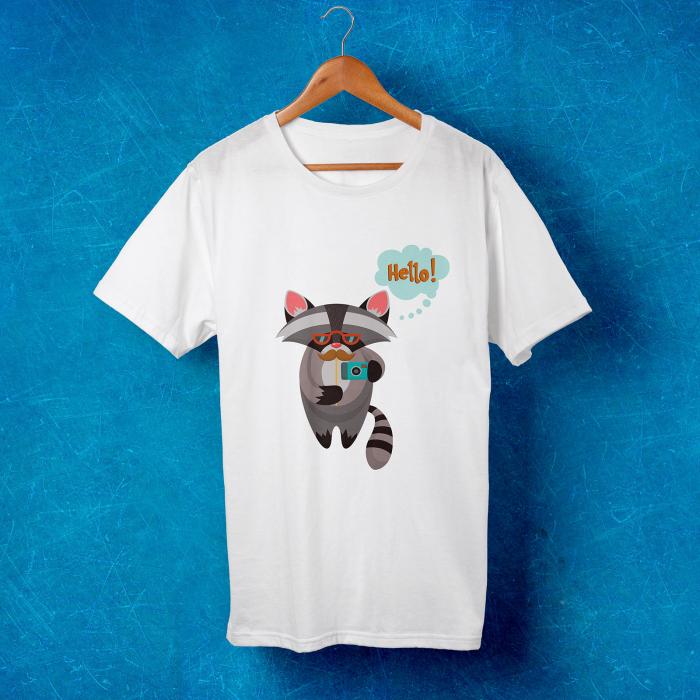Tricou barbati - Hipster raccoon [1]