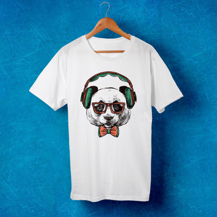 Tricou barbati - Hipster bear 0