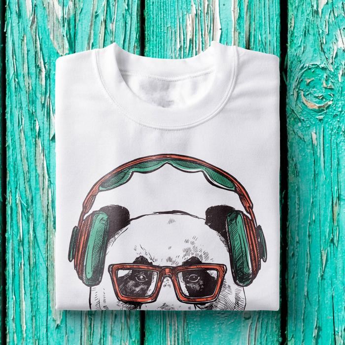 Tricou barbati - Hipster bear 1