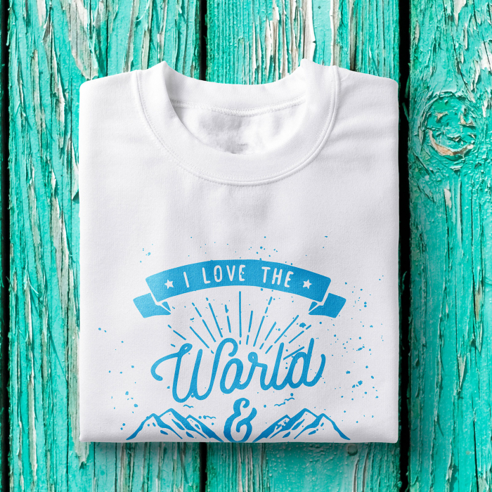 Tricou barbati - I love the world 0