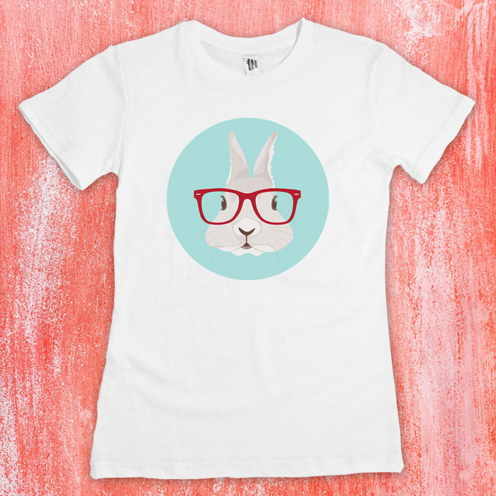 Tricou femei - Hipster bunny 0