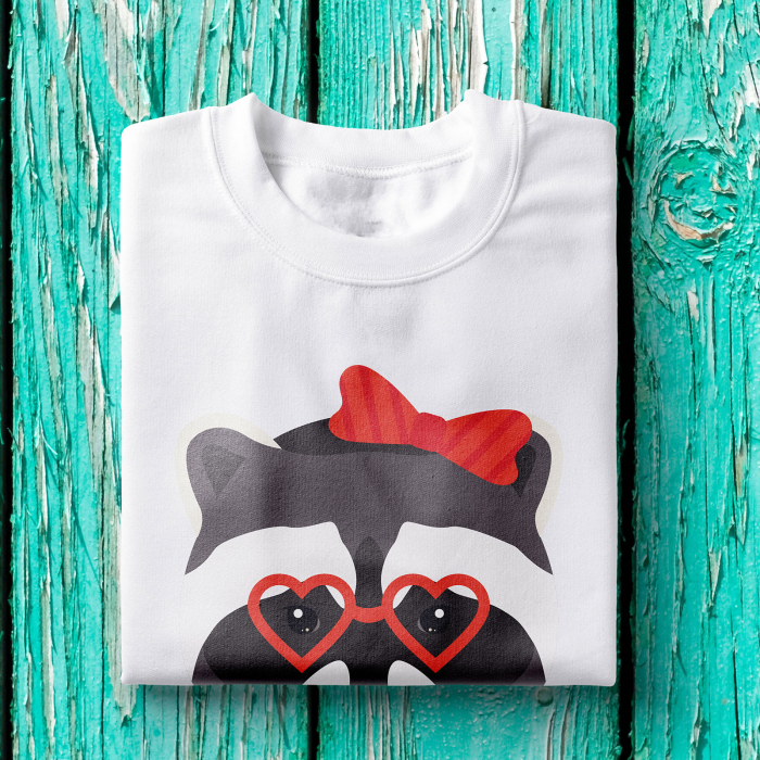 Tricou femei - Hipster raccoon lady 1