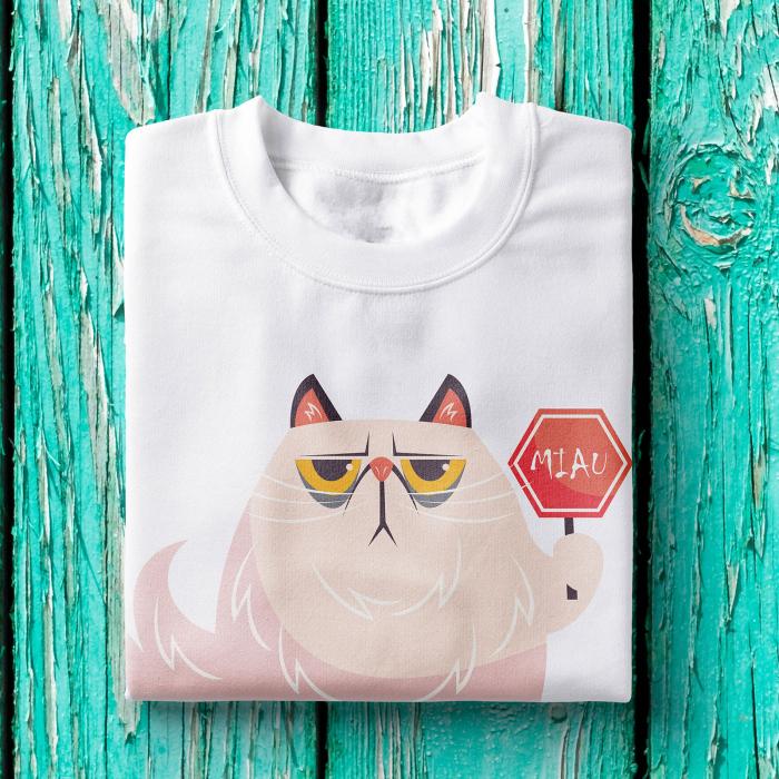 Tricou femei - Miau sign cat 0