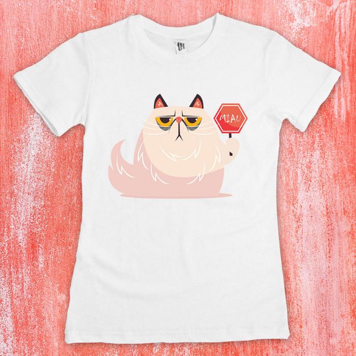 Tricou femei - Miau sign cat 1