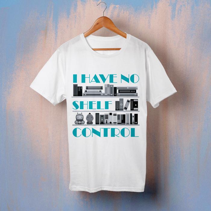 """Tricou """"I have no shelf control_blue"""" 0"""