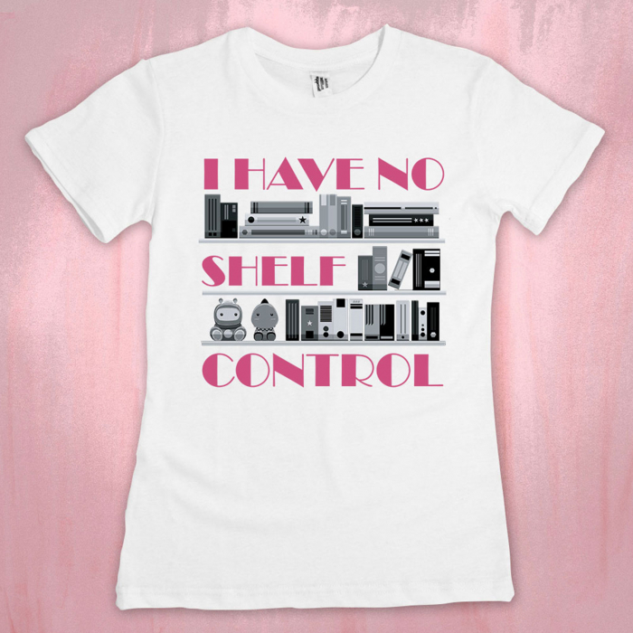 "Tricou ""I have no shelf control_purple"" 0"