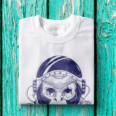 Tricou barbati - Astronaut monkey0