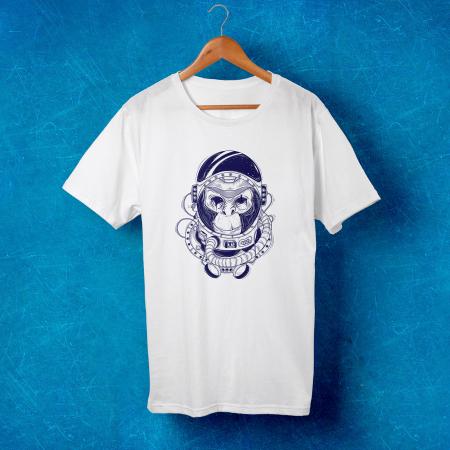 Tricou barbati - Astronaut monkey1