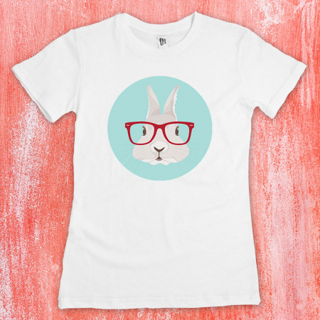 Tricou femei - Hipster bunny0