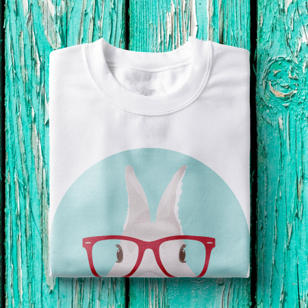 Tricou femei - Hipster bunny1