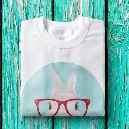 Tricou femei - Hipster bunny [1]