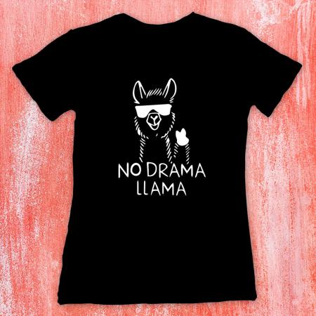 Tricou femei  - No drama llama1